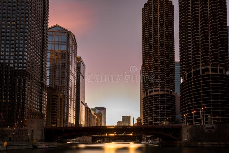 CHICAGO IL skyline usa royalty free stock photo