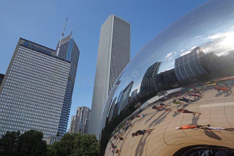 CHICAGO, IL/USA - 8-08-2017: Escultura de Cloudscape, aka o feijão, imagem de stock royalty free