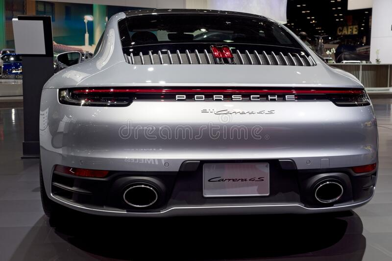 Porsche Carrera 911 at the annual International Auto-show royalty free stock images
