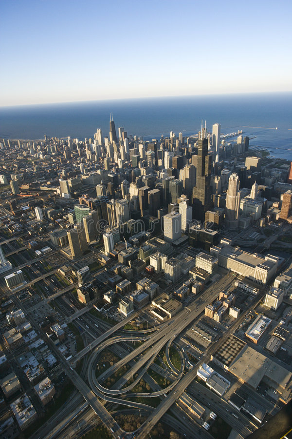 Download Chicago, Illinois. stock photo. Image of above, buildings - 3610556