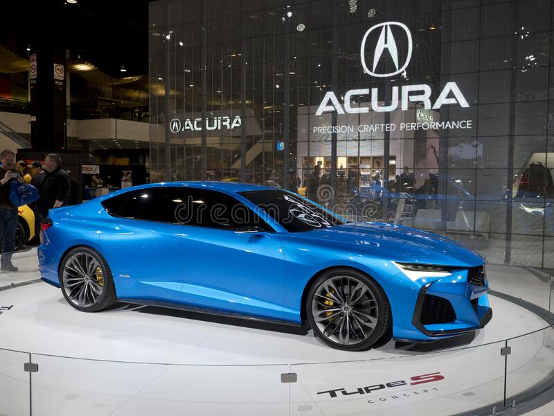 Acura all-wheel Type S concept coupe at the annual International Auto-show stock images
