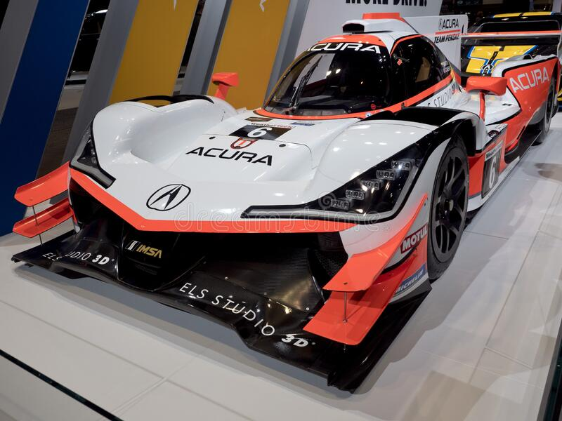 Acura Formula at the annual International Auto-show stock image
