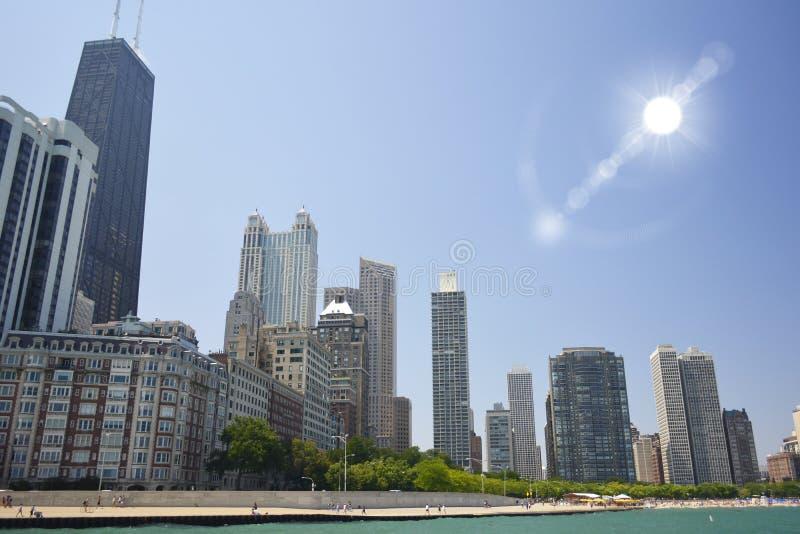 chicago illinois horisont royaltyfria foton