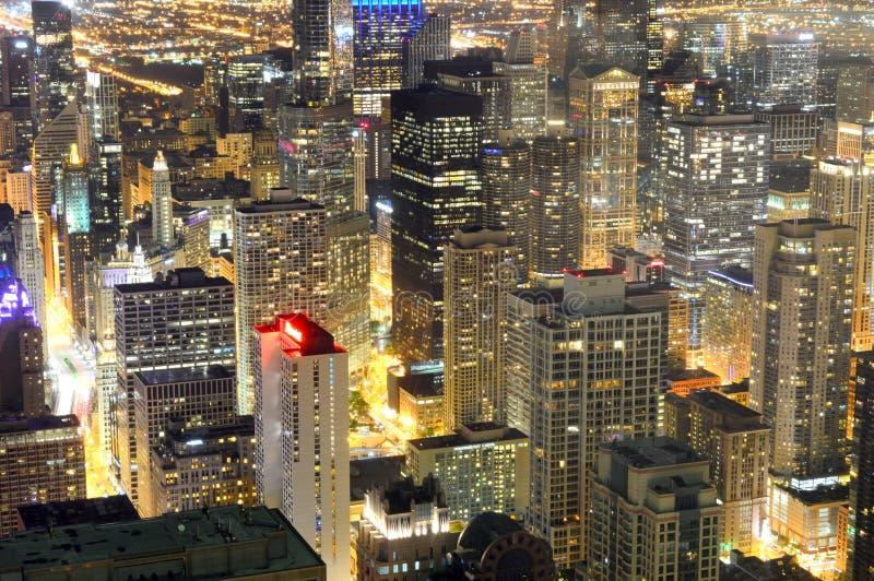 Chicago, Illinois - los E.E.U.U. - 20 de agosto de 2016: Centro de la ciudad con los rascacielos foto de archivo