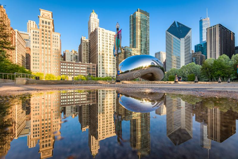 Cloud Gate in Chicago, Illinois royalty free stock images