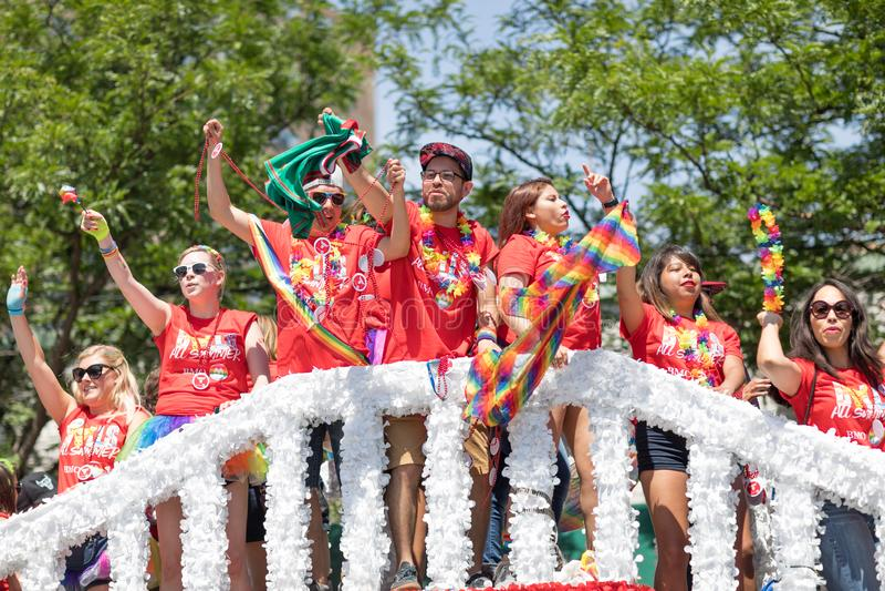 LGBTQ Pride Parade 2018 stock photography