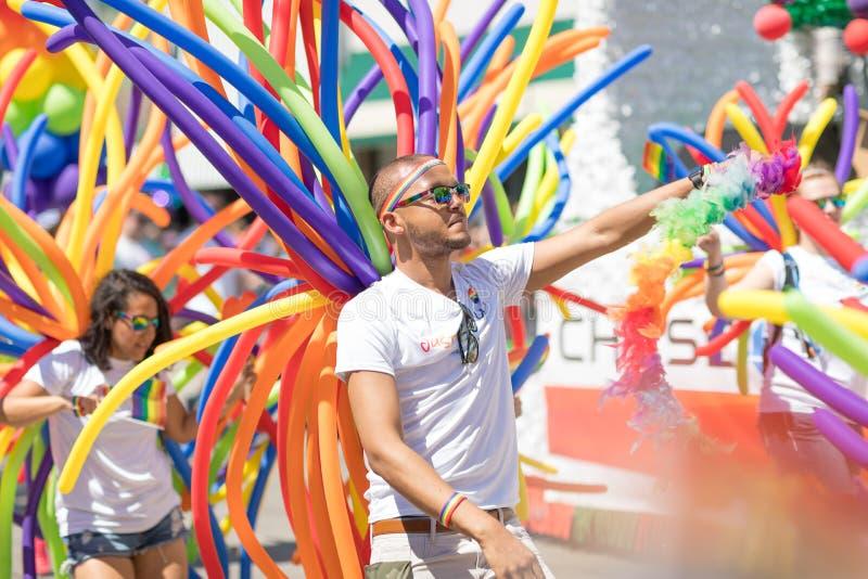 LGBTQ Pride Parade 2018 stock photo