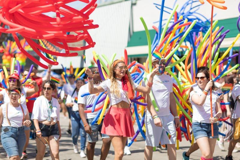 LGBTQ Pride Parade 2018 stock images