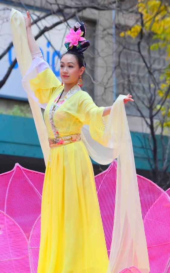 Free Chicago, Illinois - USA - November 24, 2016: Falun Dafa Chinese Stock Photo - 110421420