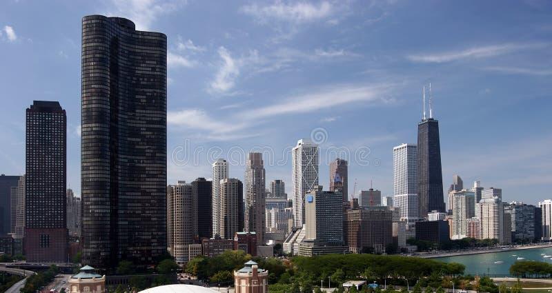 Chicago im Stadtzentrum gelegen stockfotos