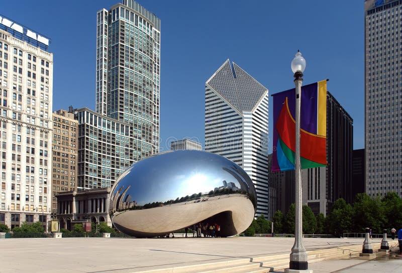 chicago jest millennium park zdjęcie stock