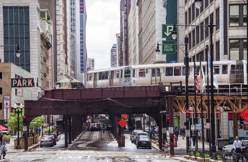 Chicago L stock foto