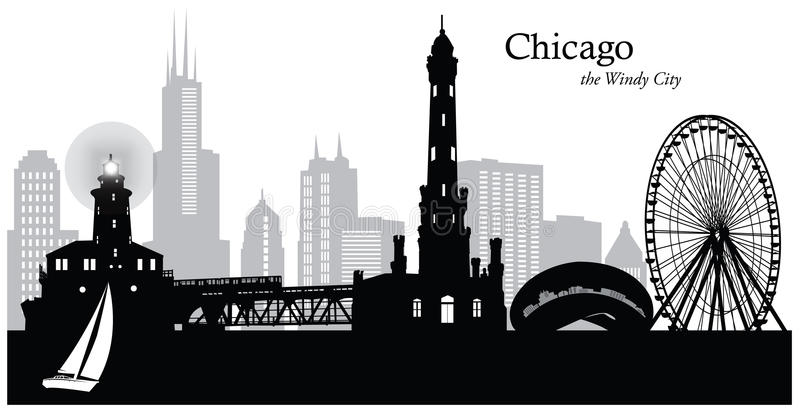 Chicago, l'Illinois illustration libre de droits
