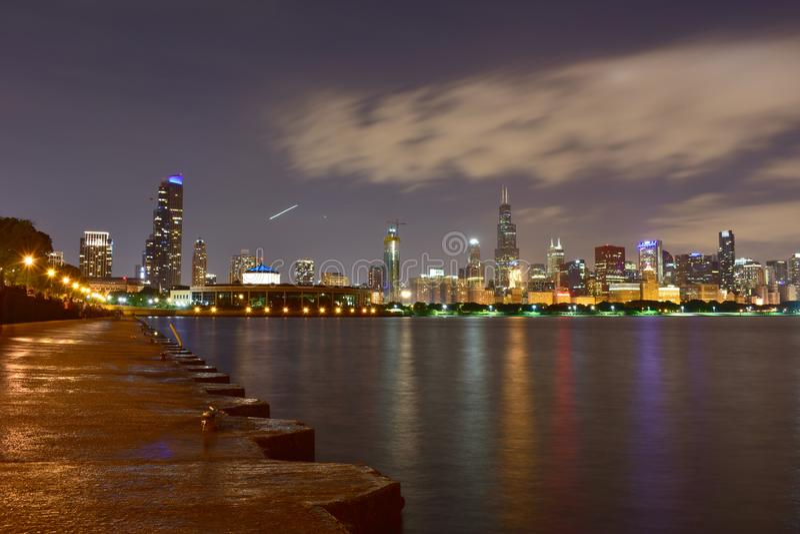 Chicago, l'Illinois - Etats-Unis - 1er juillet 2018 : Horizon du nord de Chicago photographie stock