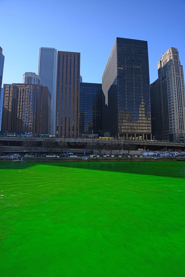 Chicago la rivière Green images libres de droits