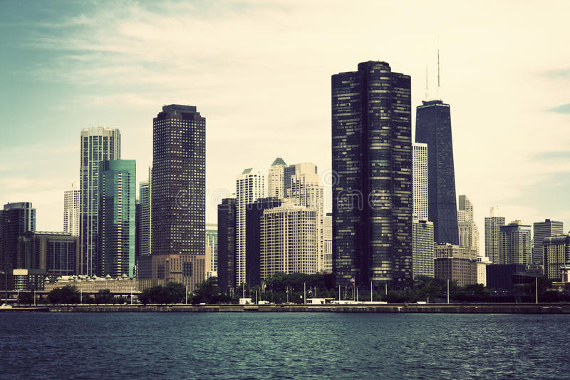 Chicago from the lake royalty free stock image