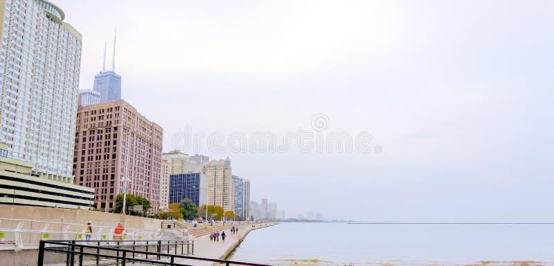 Chicago Lakefront arkivfoton