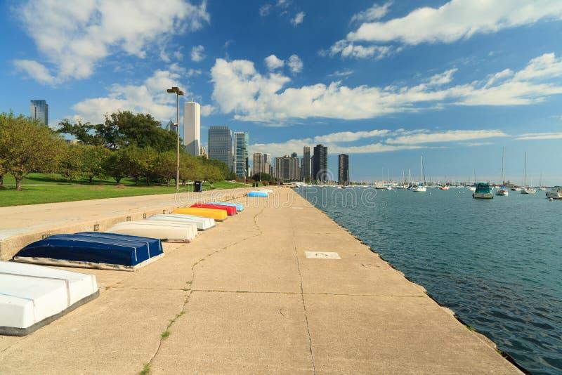 chicago lakefronttrail royaltyfri foto