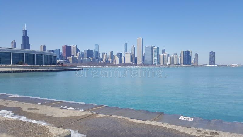 Chicago Lakekust fotografering för bildbyråer