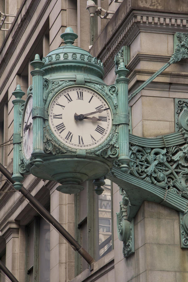 Chicago Landmark clock in stock image
