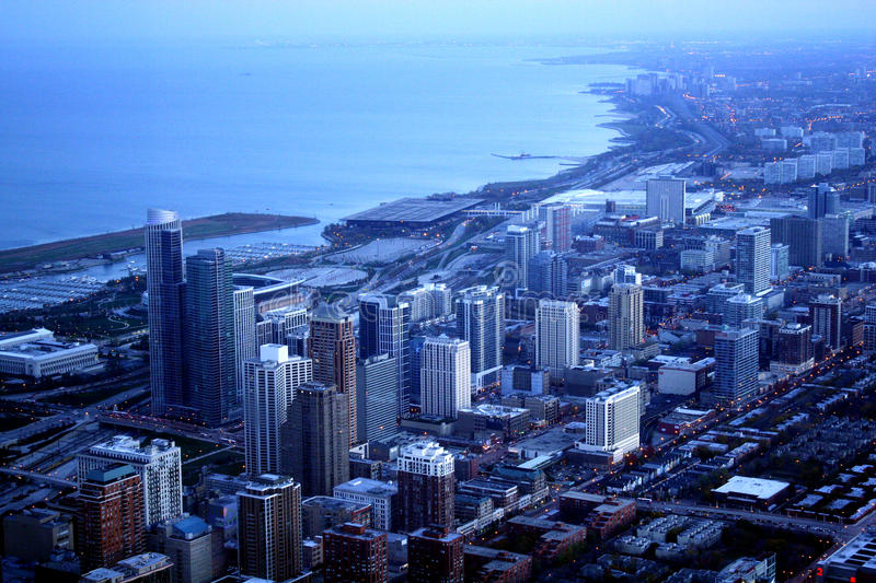 Download Chicago landscape stock photo. Image of michigan, grand - 28442764