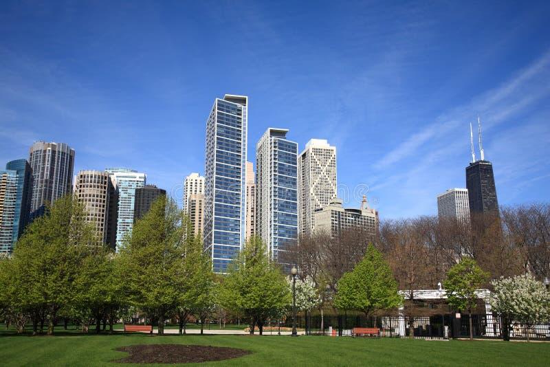 chicago linia horyzontu obraz royalty free