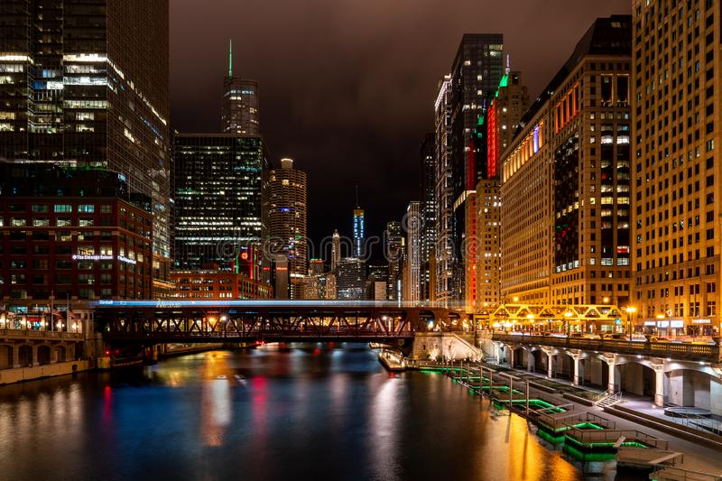 Chicago. Located on the shores of Lake Michigan, Chicago was incorporated as a city in 1837 near a portage between the Great Lakes and the Mississippi River stock images