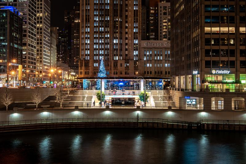 Chicago. Located on the shores of Lake Michigan, Chicago was incorporated as a city in 1837 near a portage between the Great Lakes and the Mississippi River stock photos