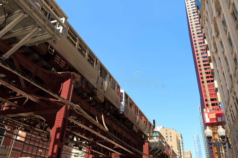 Chicago Loop Train royalty free stock images
