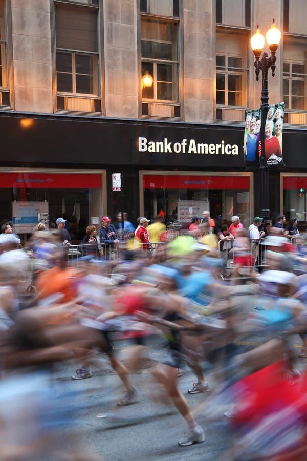 Chicago-Marathon - Bewegungszittern stockfotografie