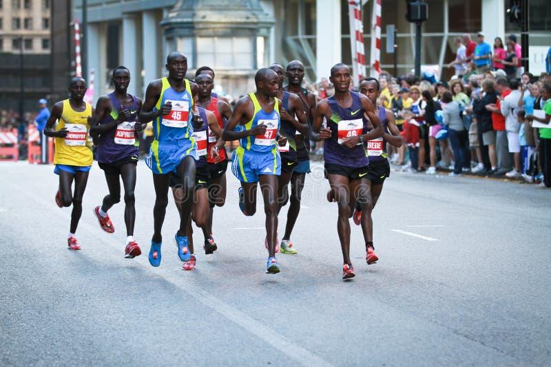 Chicago-Marathon - Führersatz lizenzfreies stockfoto