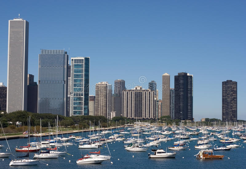Download Chicago marina stock image. Image of downtown, building - 16010867