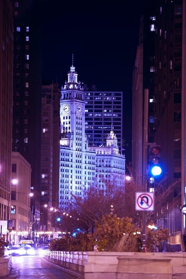 Chicago Michigan ave royaltyfri fotografi