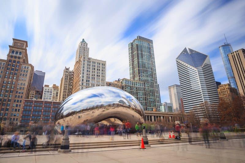 chicago milenium park obrazy royalty free