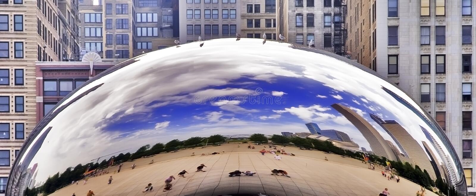 Chicago Millenium Park Cloud Gate royalty free stock image