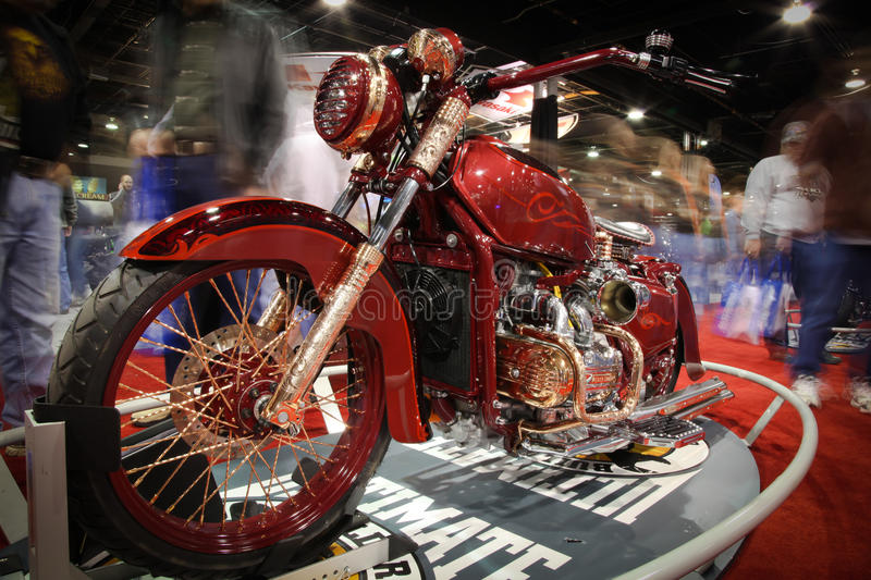 Chicago Motorcycle Show - motion blur stock images