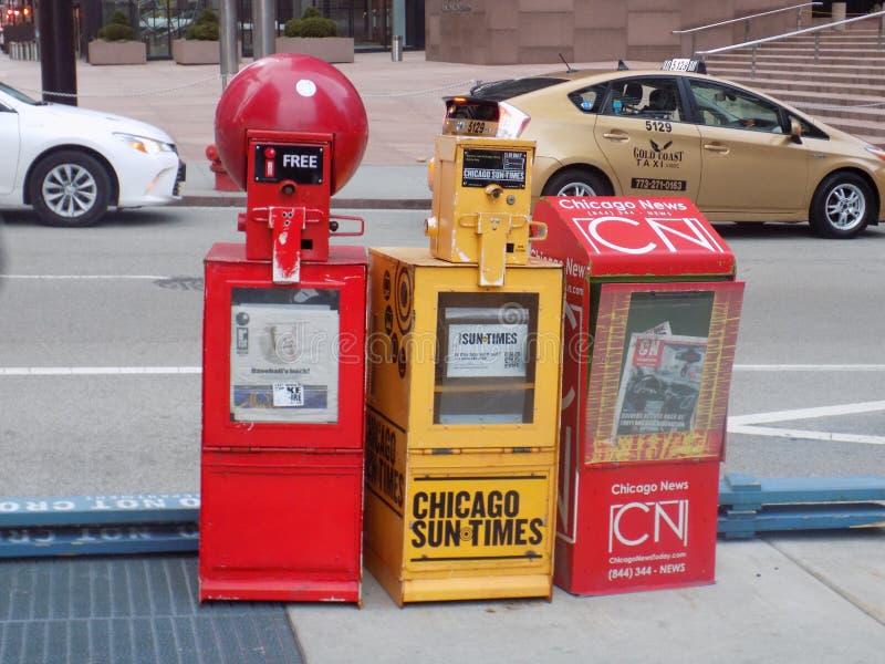 Chicago-Nachrichtenpapier lizenzfreie stockbilder