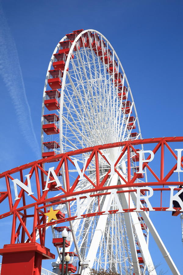 Download Chicago Navy Pier Ferris Wheel Stock Photo - Image: 19059438