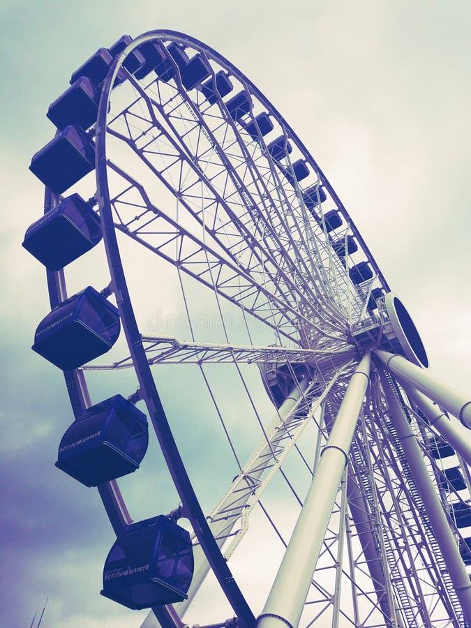 Chicago Navy Pier. New Ferris Wheel stock photo