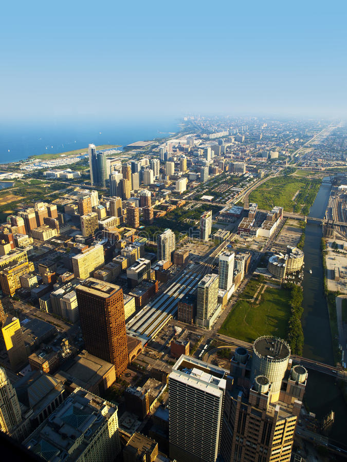 Download Chicago Near South Side Aerial View Stock Image - Image: 16536219