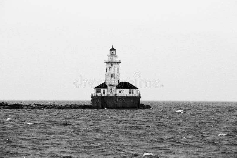 Chicago nel lago Michican fotografia stock