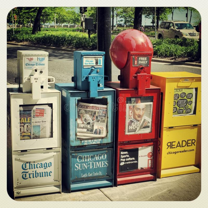 Free Chicago News Paper Stand Stock Photography - 37183762