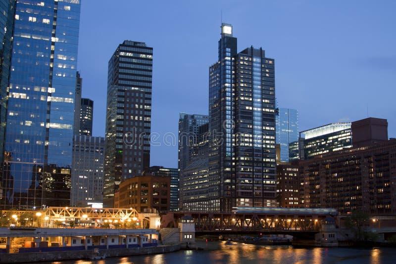 chicago noc zdjęcie stock
