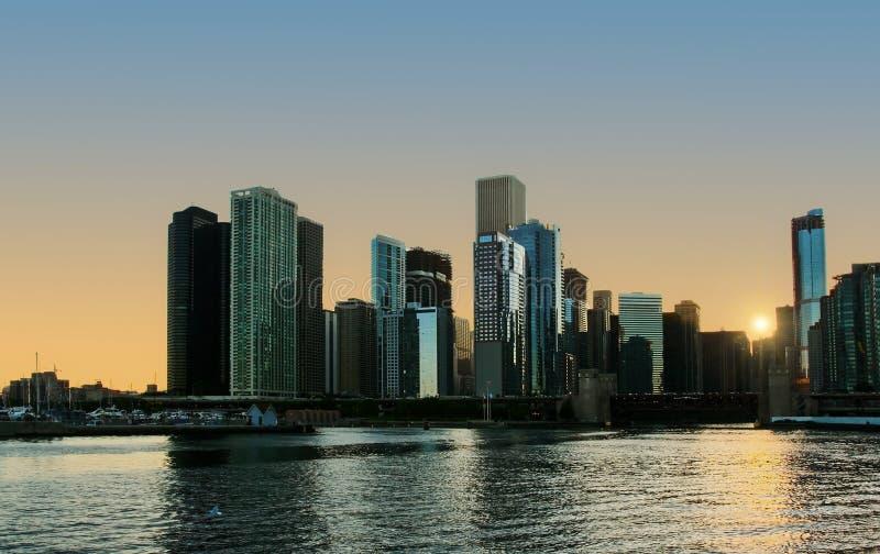 chicago noc obrazy royalty free