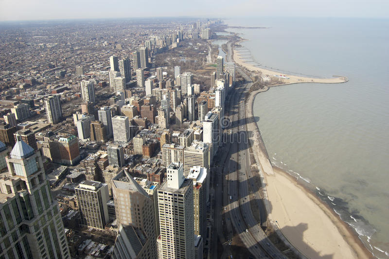 Chicago Northern Shoreline Royalty Free Stock Images