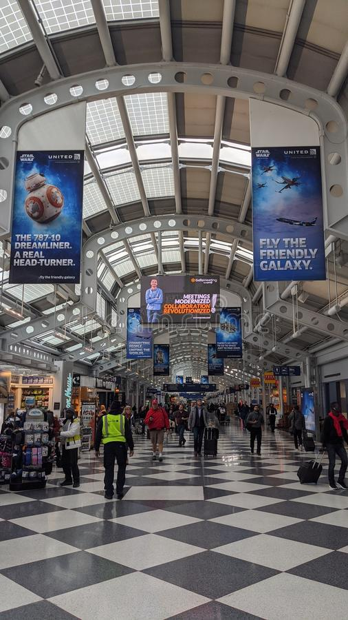 Chicago O`Hare International Airport royalty free stock photography