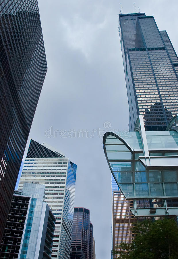 Chicago office buildings royalty free stock photography