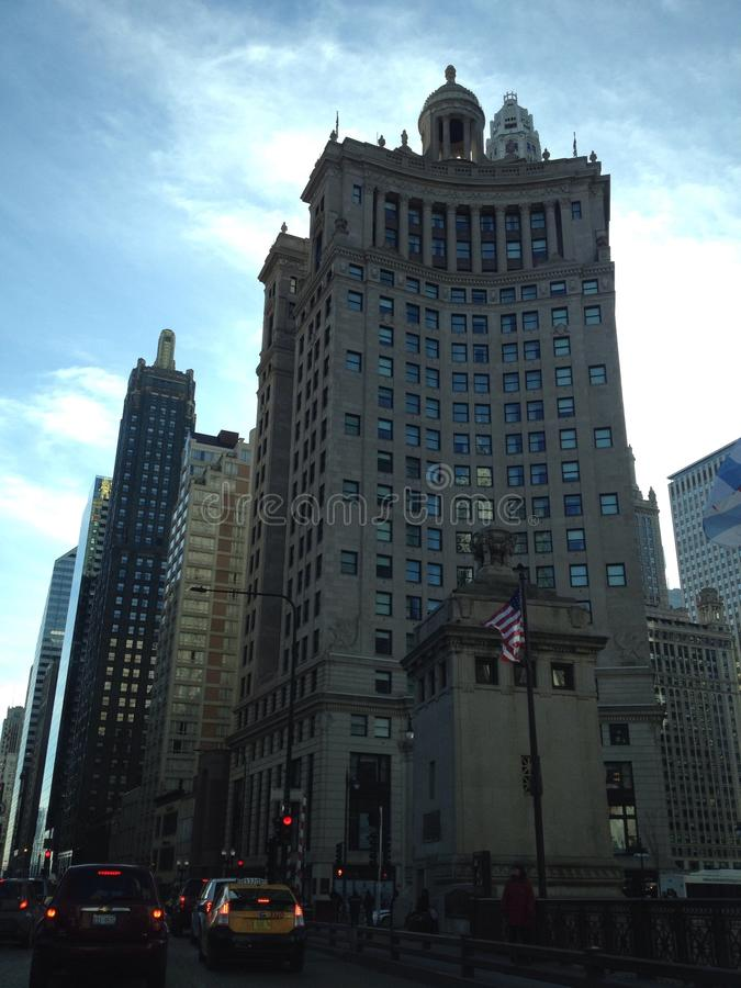 Chicago op uber royalty-vrije stock afbeeldingen
