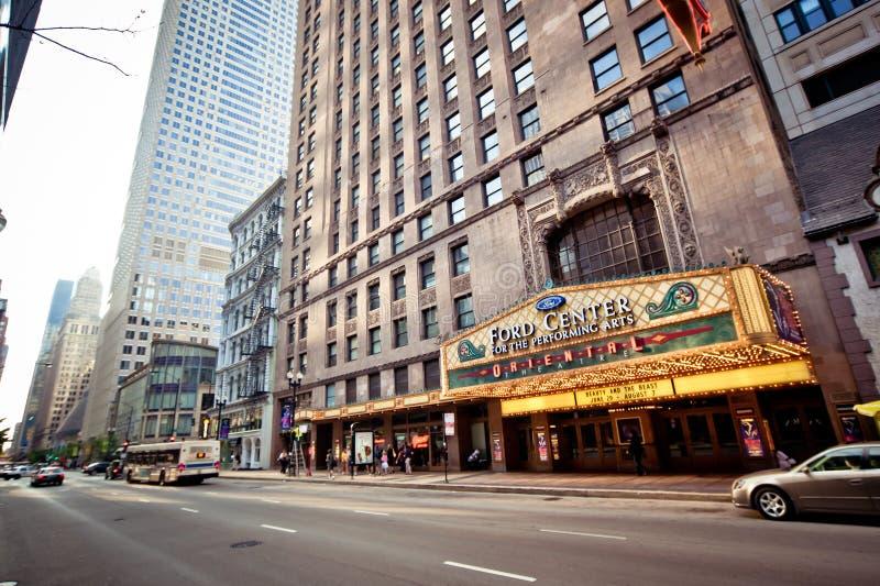 chicago orientalisk theatre royaltyfri foto