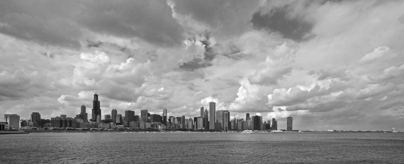 Chicago-Panorama lizenzfreie stockfotos
